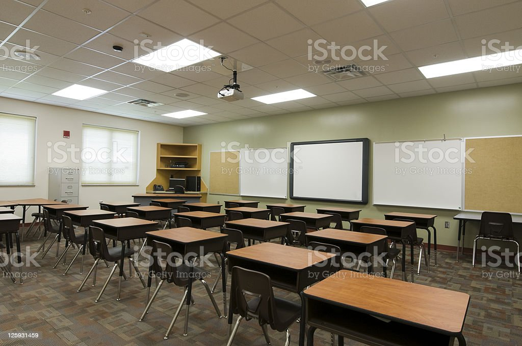 Empty Classroom royalty-free stock photo