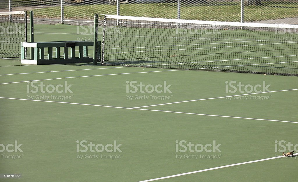 empty clay tennis court royalty-free stock photo