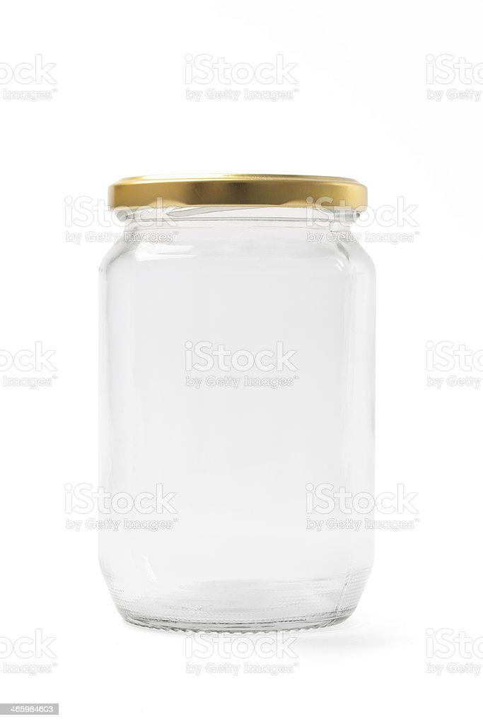 Empty Clean Jar Ready for Use stock photo