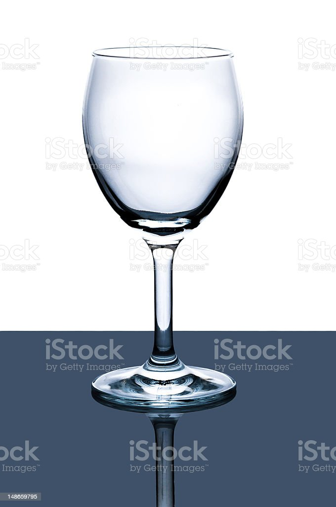 empty cleaned wine glass stock photo