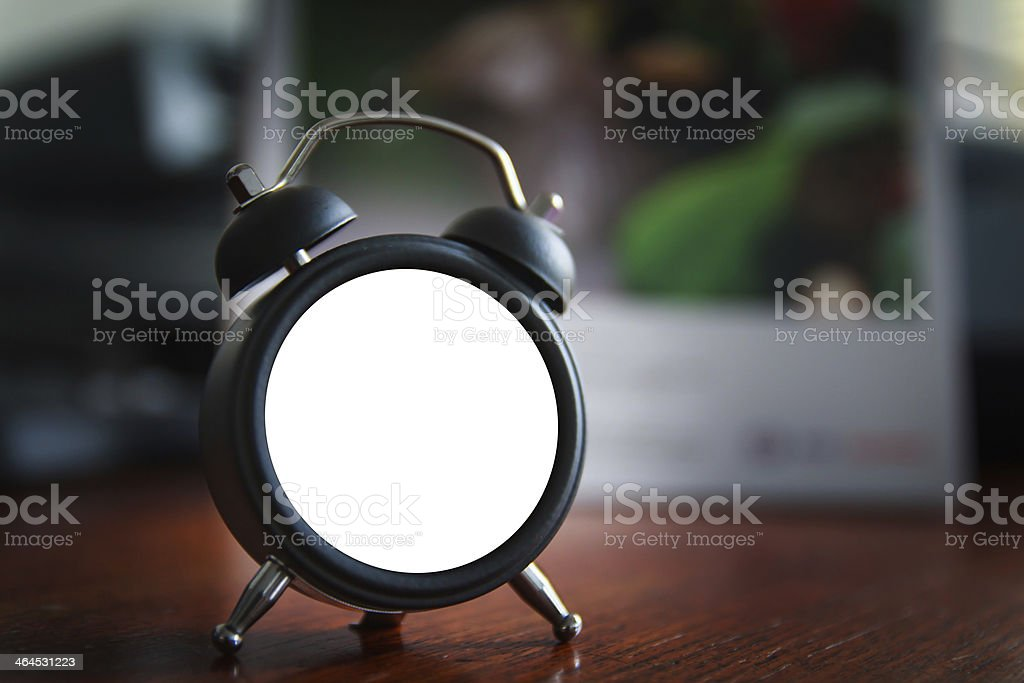 Empty clock can not tell about all time stock photo