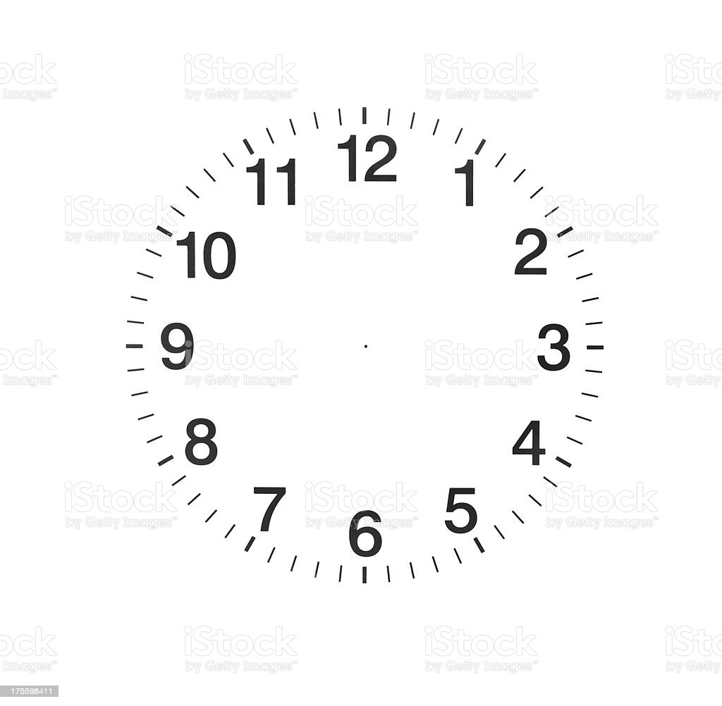 Empty Clock royalty-free stock photo