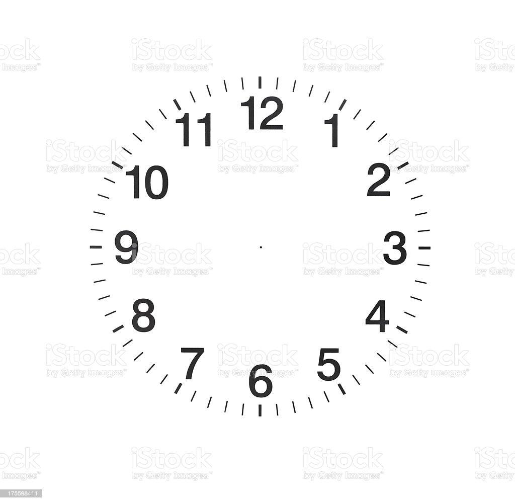 Empty Clock stock photo