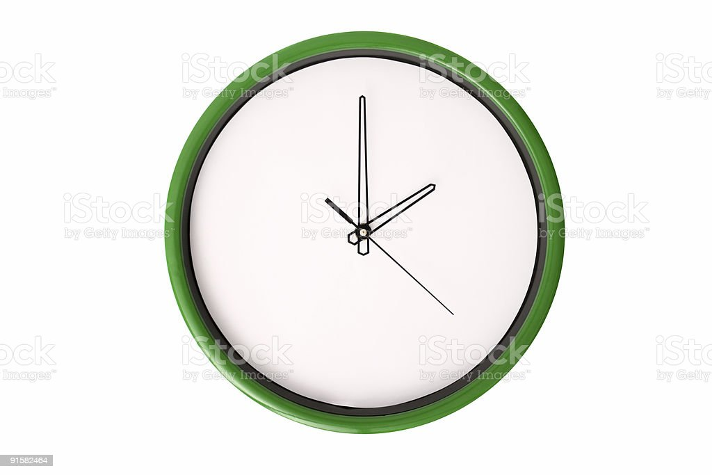 Empty clock serie - 2 o'clock. stock photo
