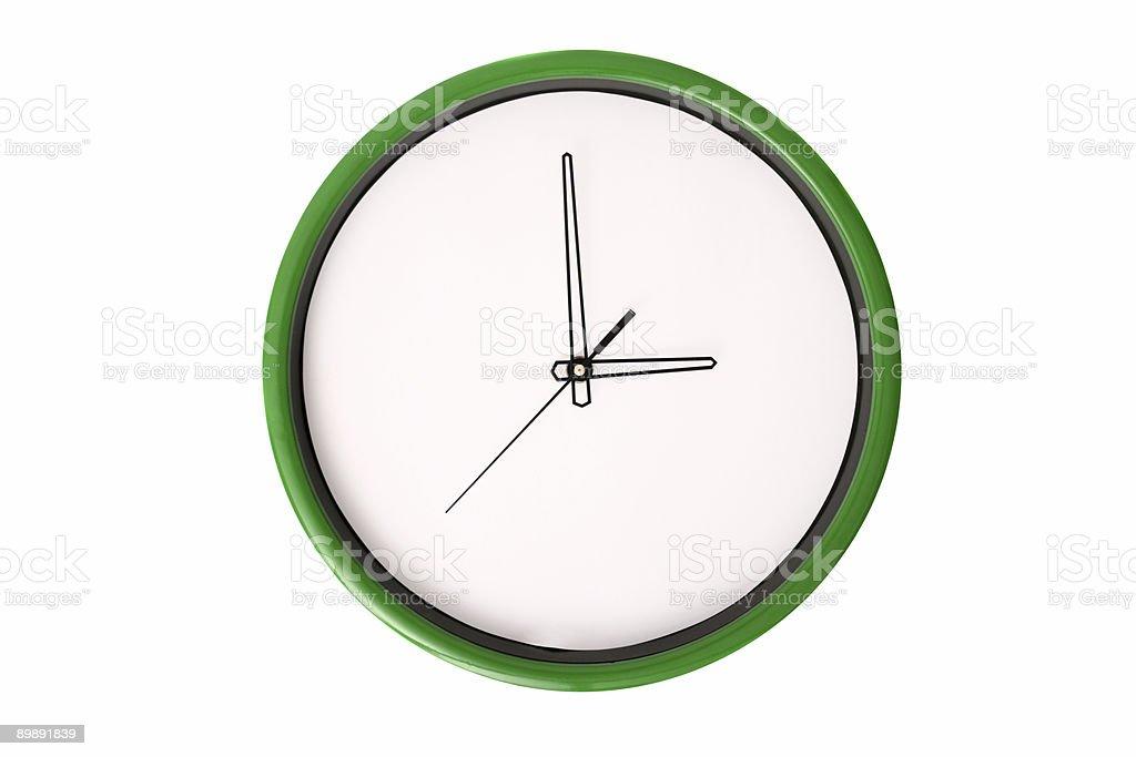 Empty clock serie - 3 o'clock. stock photo