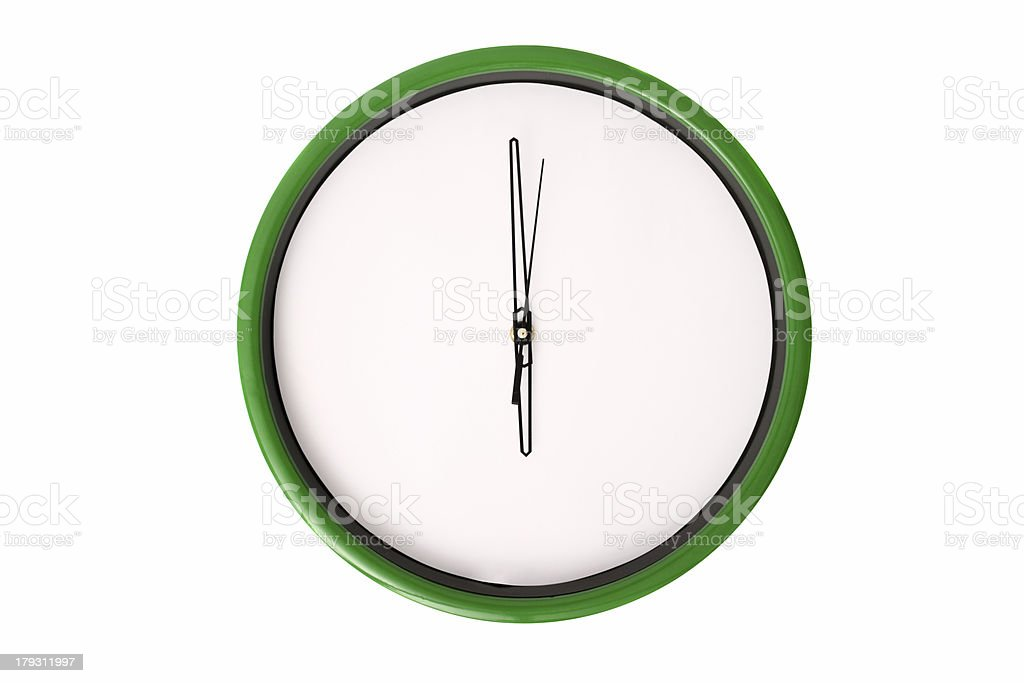 Empty clock serie - 6 o'clock. stock photo