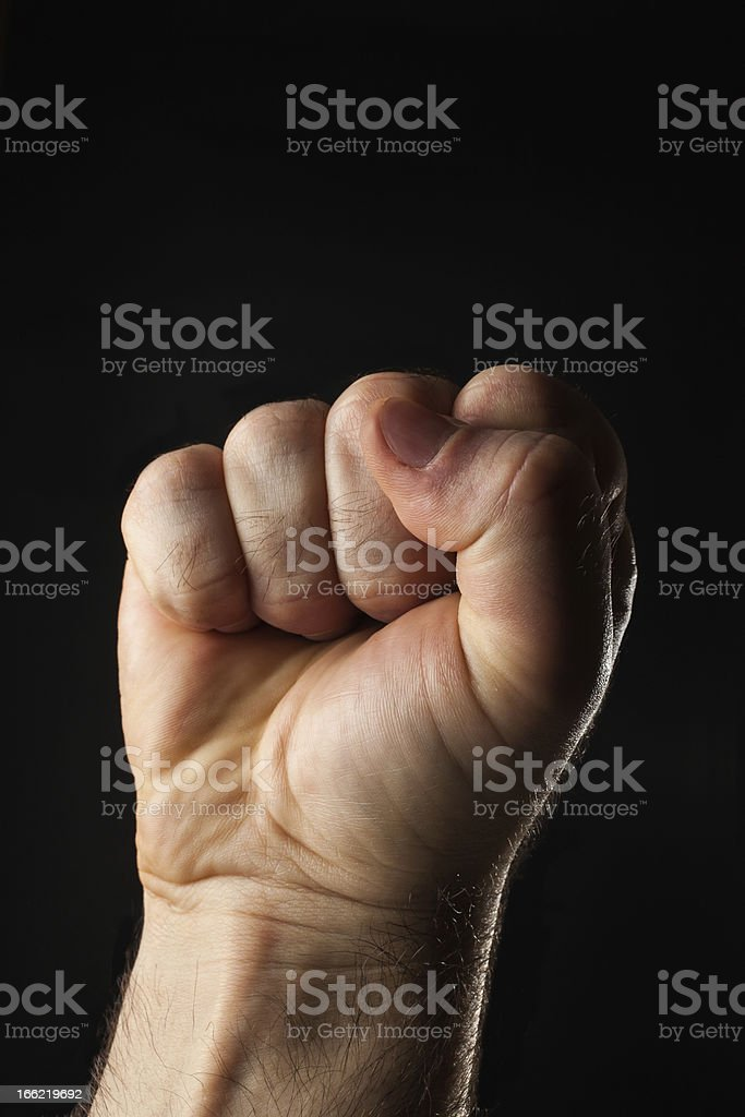 Empty closed male hand royalty-free stock photo