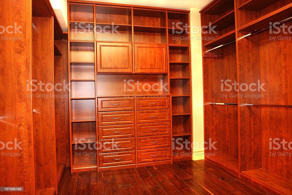 Empty Closet stock photo