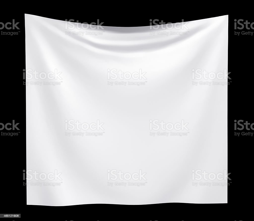 Empty cloth banner with folds stock photo