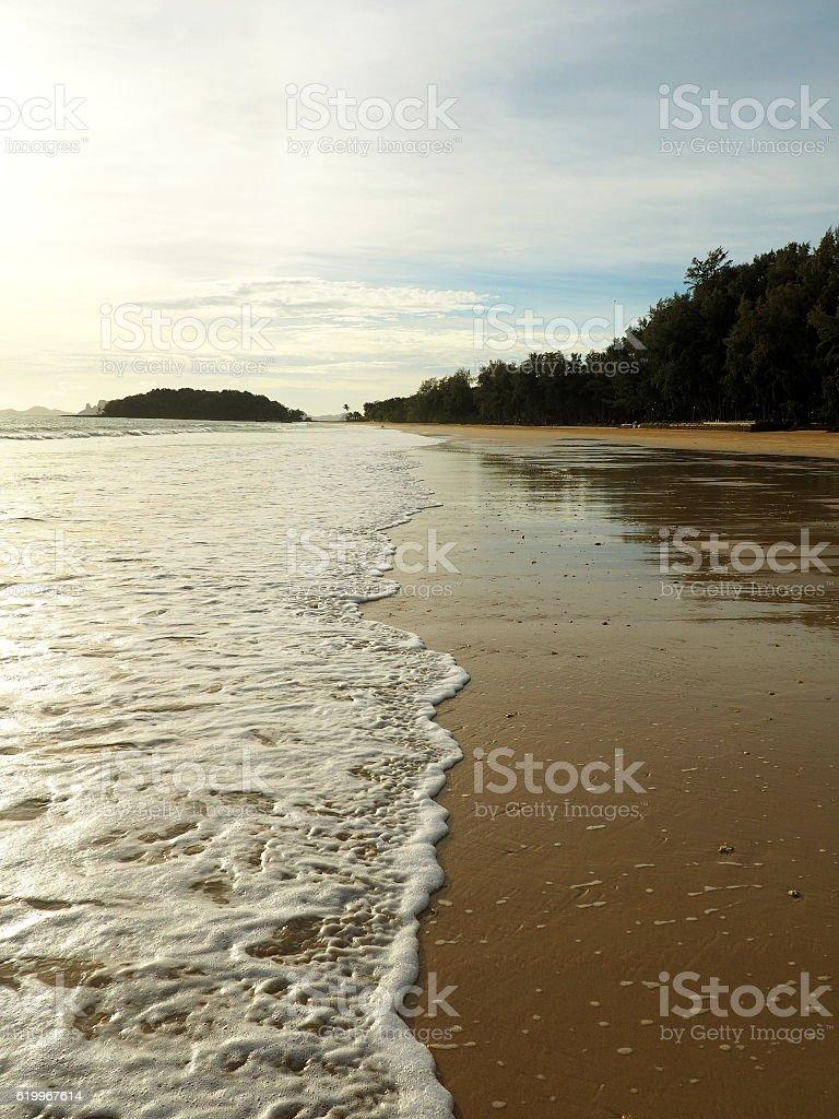 Empty coast long stock photo