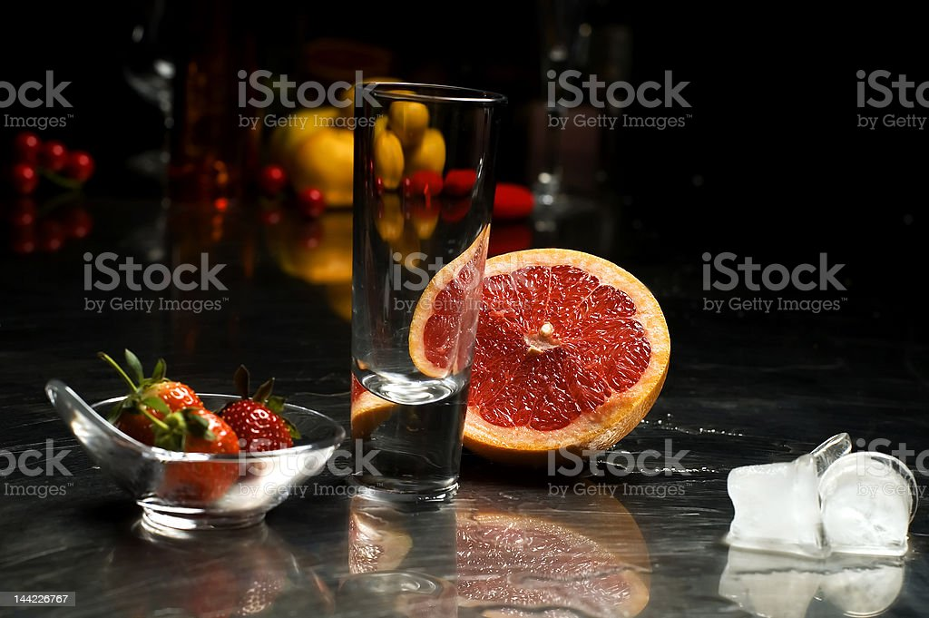 Empty Cocktail glass royalty-free stock photo