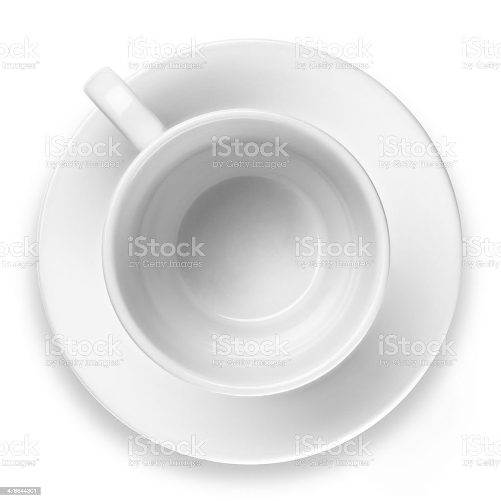 Empty Coffee Cup Isolated royalty-free stock photo