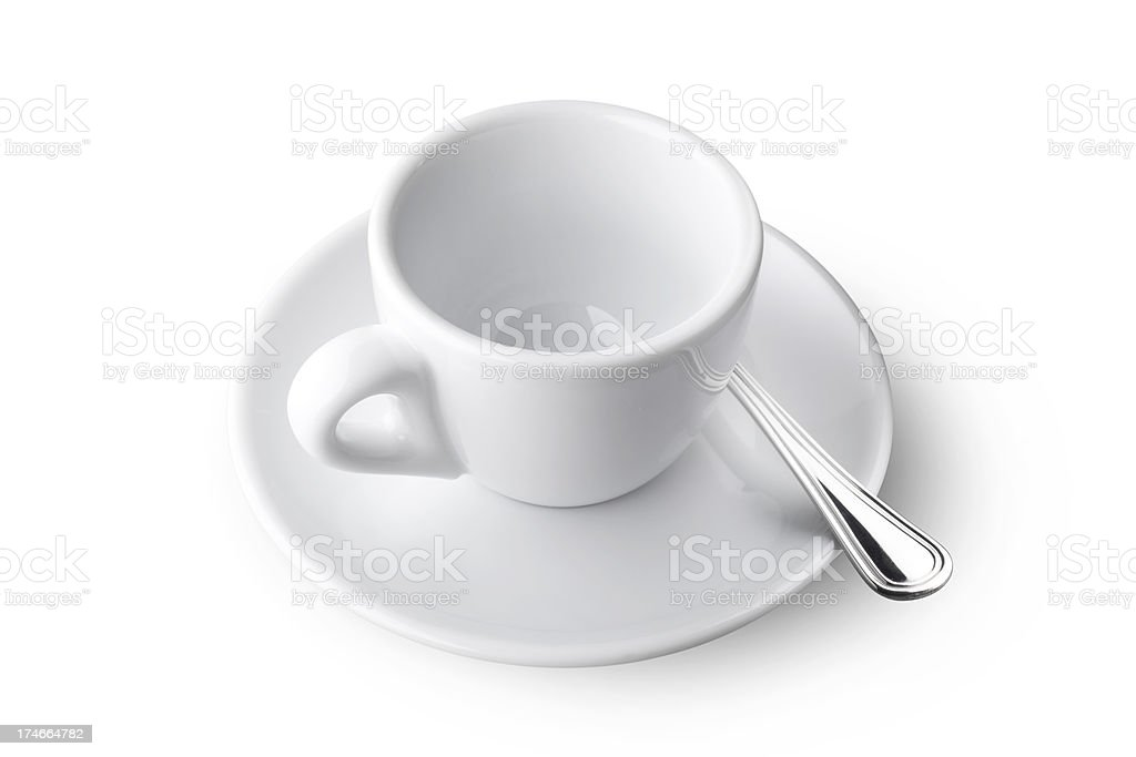 Empty coffee cup royalty-free stock photo