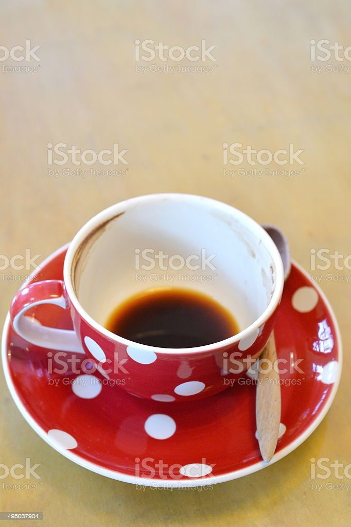 Empty Coffee Cup stock photo