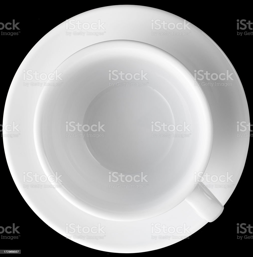 empty coffee cup shot from above royalty-free stock photo
