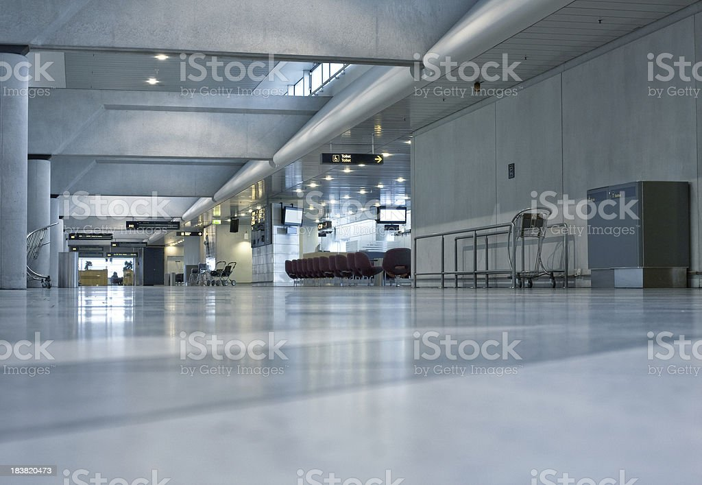 Empty column in at the airport royalty-free stock photo