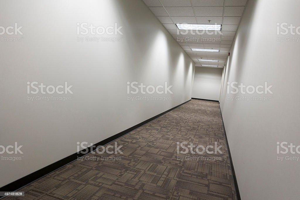 empty commercial hallway_1 stock photo