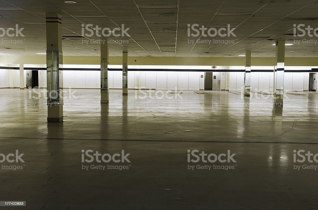 empty commercial store stock photo