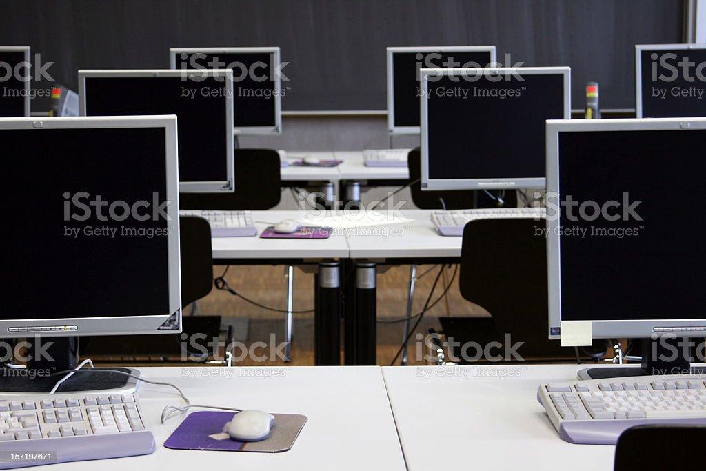 empty computer room royalty-free stock photo