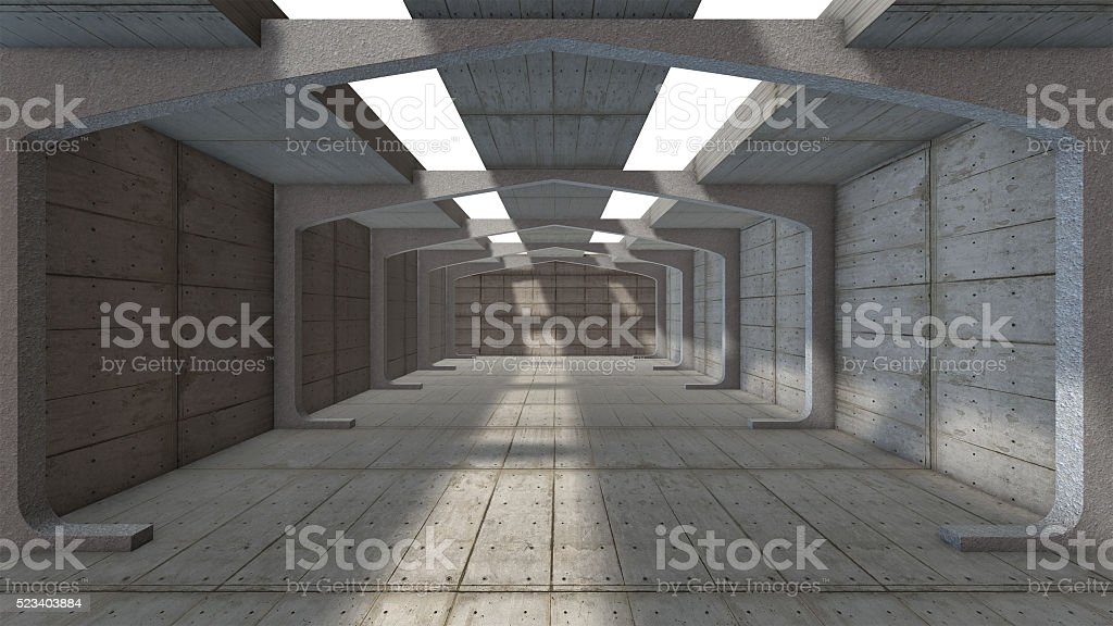 Empty Concrete hall abstract background royalty-free stock photo