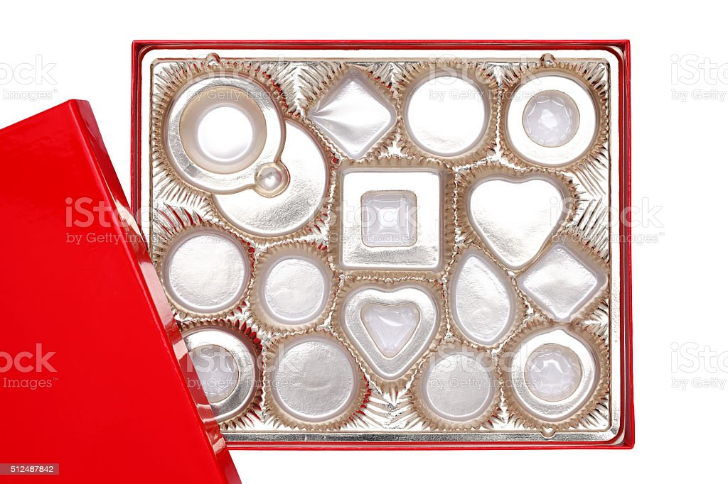 Empty confectionery box stock photo