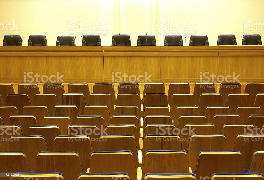 Empty conference hall royalty-free stock photo