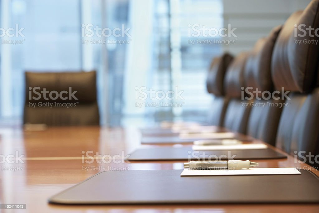 Empty Conference Room Before Meeting stock photo
