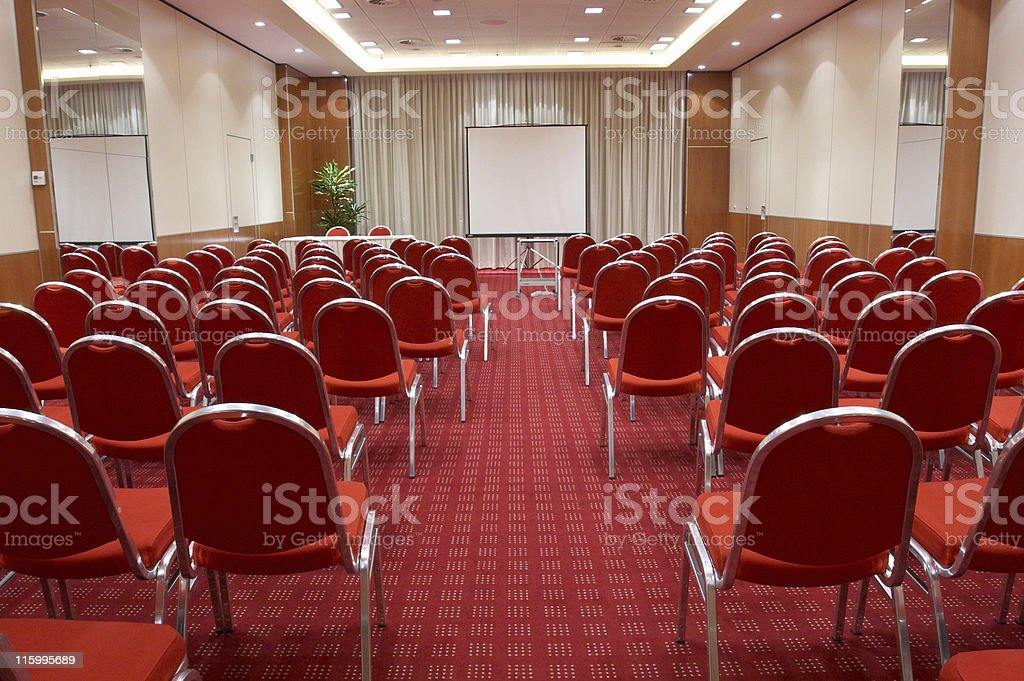 Empty conference room stock photo