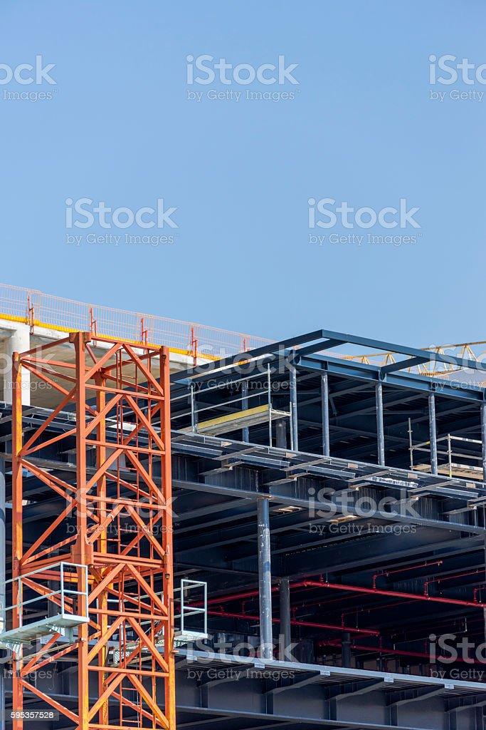 Empty construction site stock photo