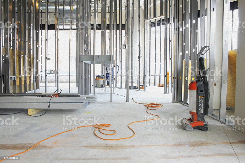 Empty Construction Site With Framework royalty-free stock photo