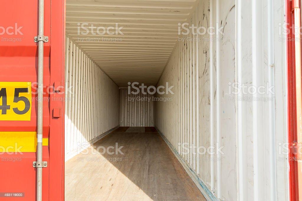Empty Container stock photo