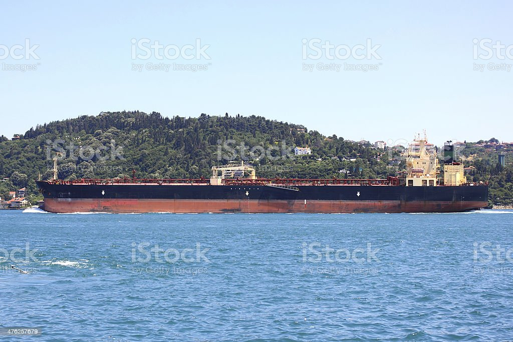 Empty container ship royalty-free stock photo