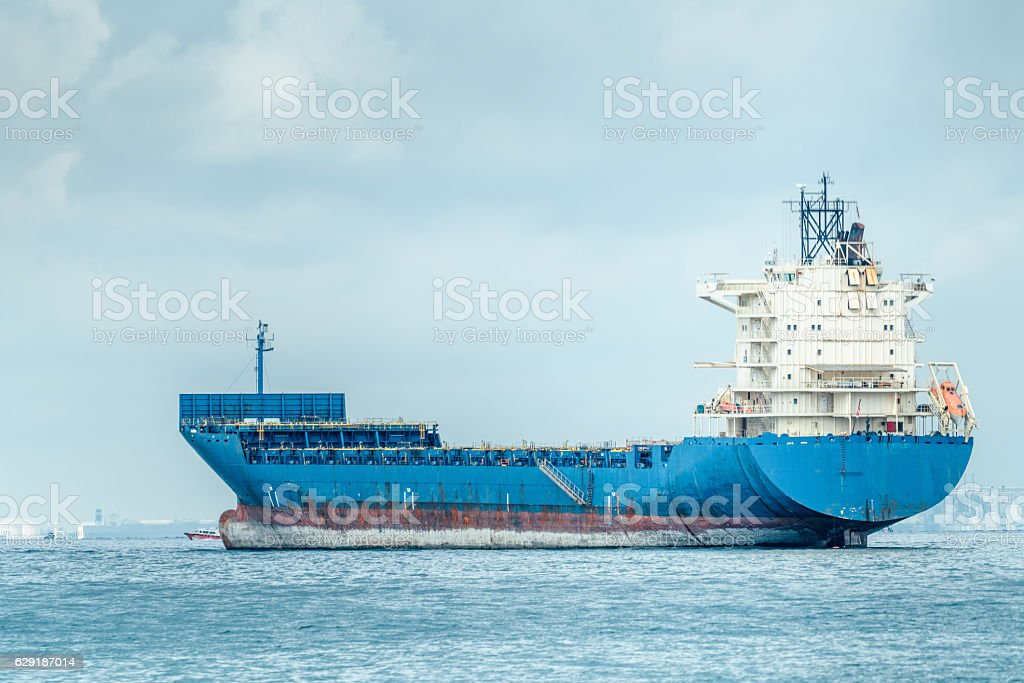 empty Container ship stock photo