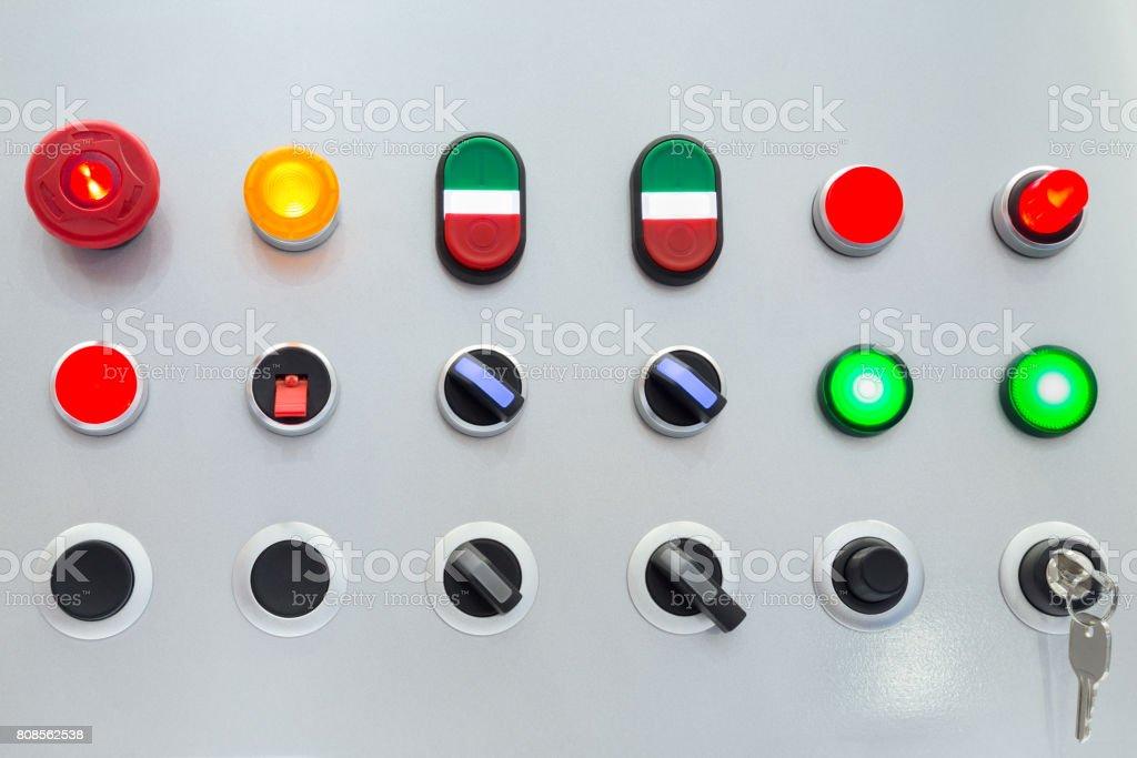Empty control switch panel stock photo
