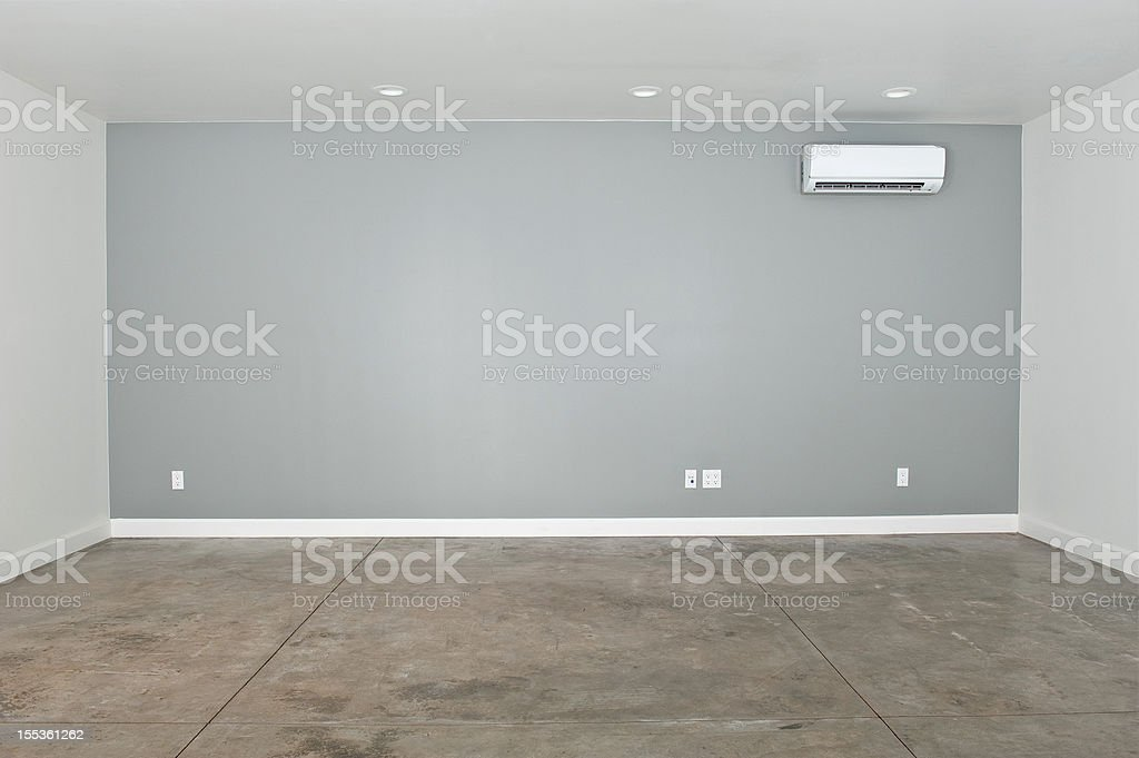 Empty Converted Garage royalty-free stock photo
