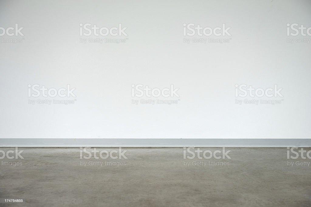 Empty Converted Garage stock photo