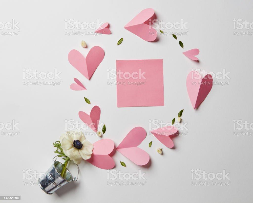 Empty copyspace valentine card stock photo