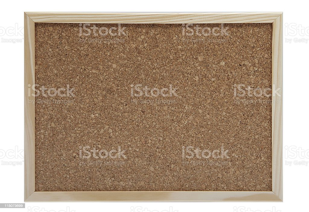 empty cork board stock photo