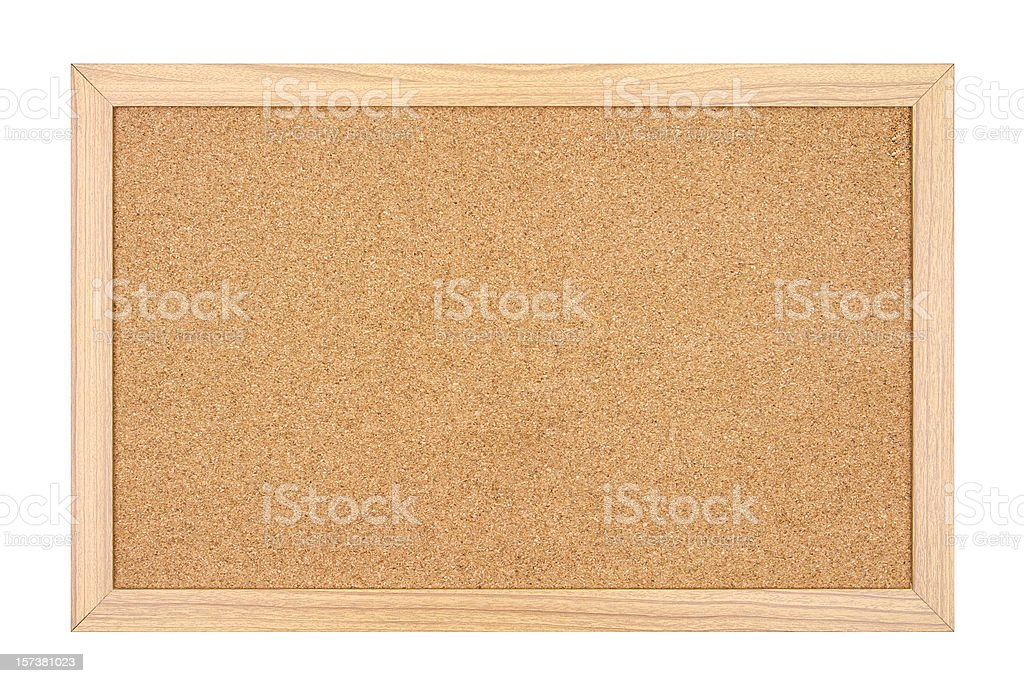 Empty Cork Board royalty-free stock photo