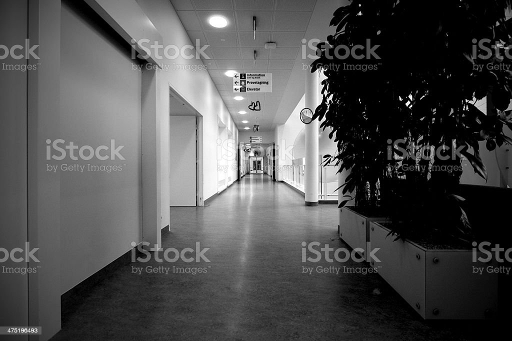 Empty corridor stock photo