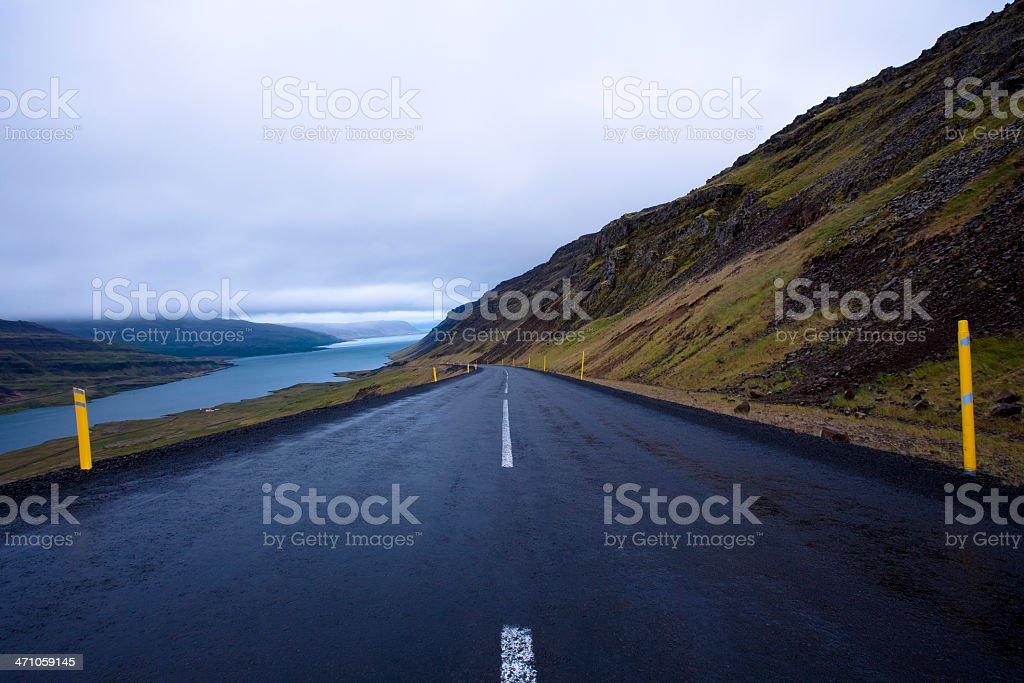 Empty Country Road Westfjords Iceland royalty-free stock photo