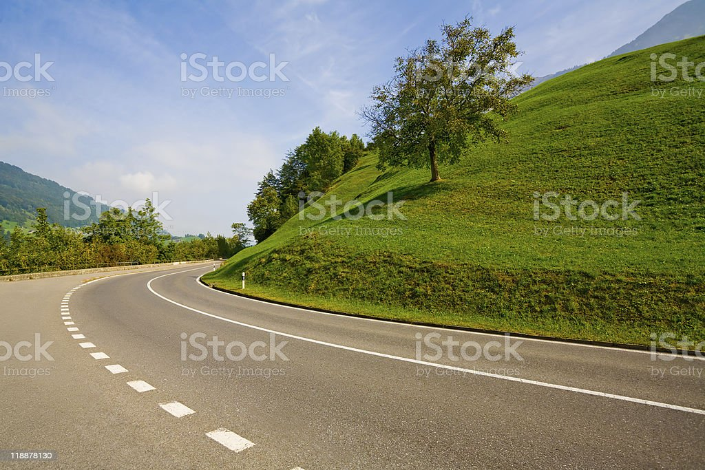 Empty countryside road royalty-free stock photo