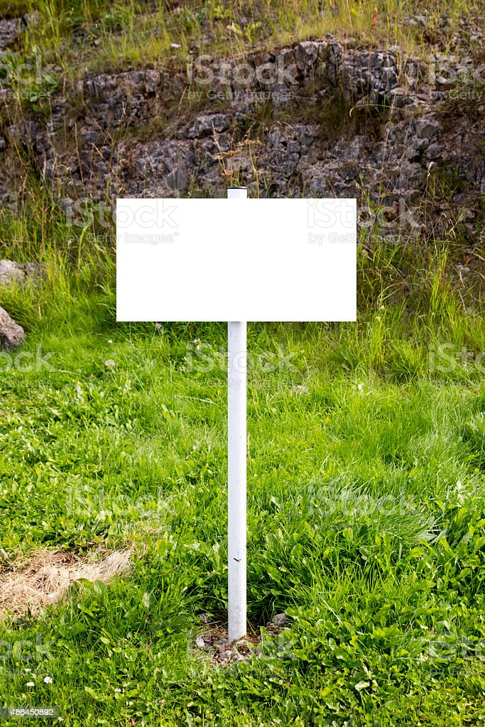Empty Countryside Signpost royalty-free stock photo