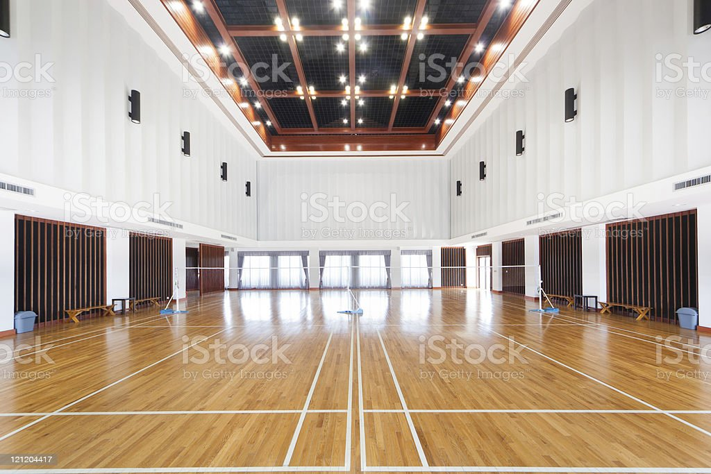 Empty court filled with amazing dreams  royalty-free stock photo