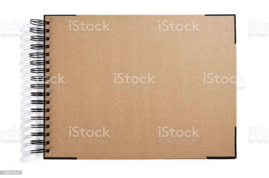 Empty Cover Sketch Book stock photo