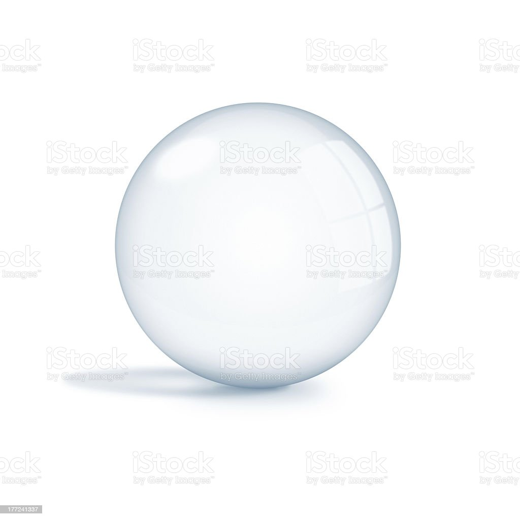 Empty crystal ball stock photo