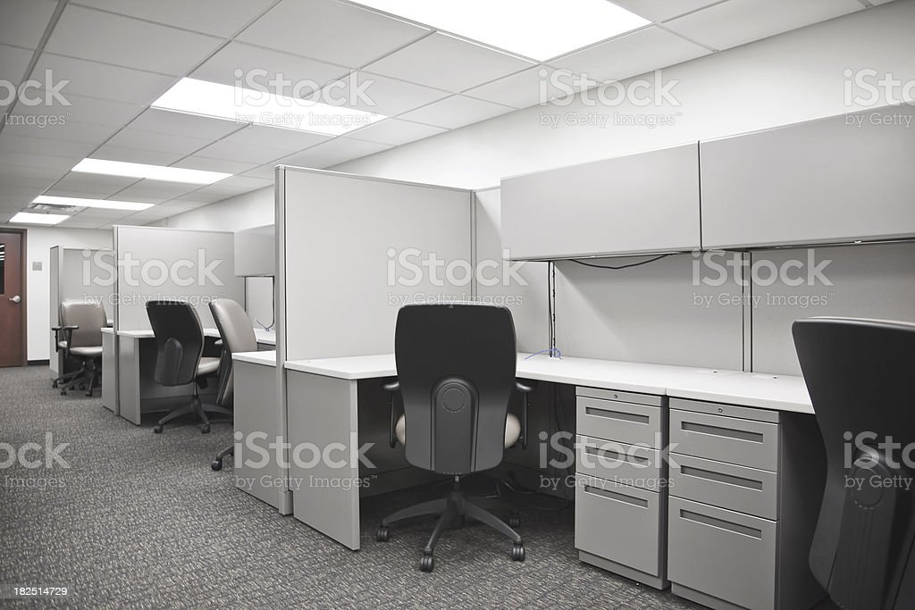 Empty Cubicle stock photo