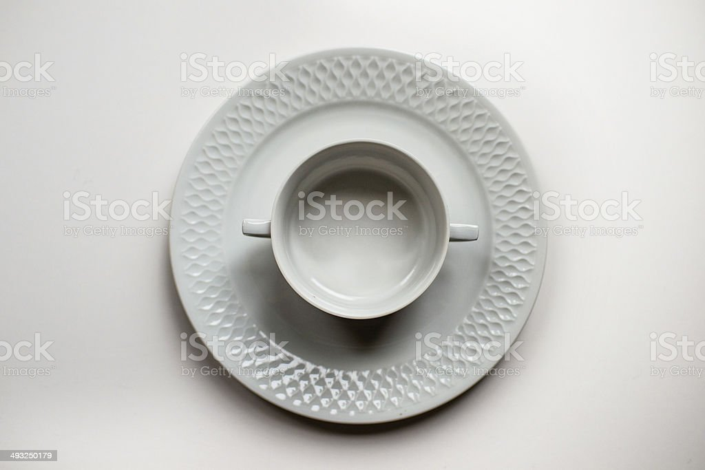 Empty cup of soup royalty-free stock photo