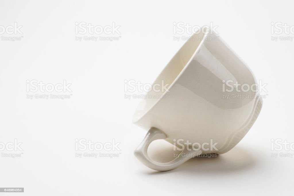 Empty Cup on With Background stock photo