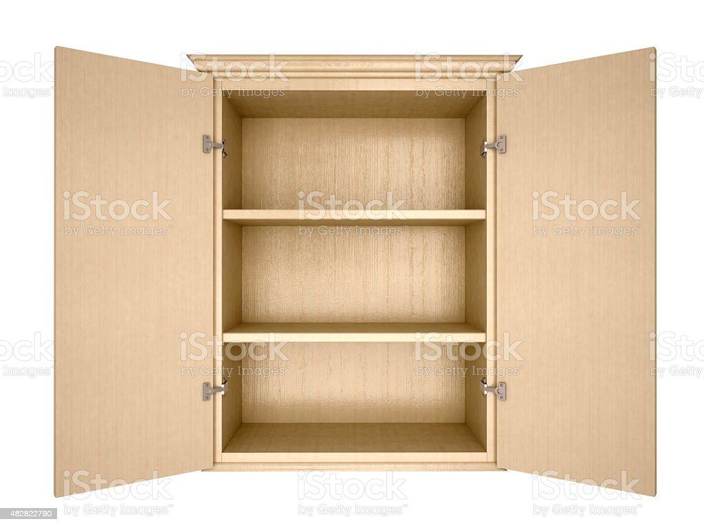 empty cupboard stock photo